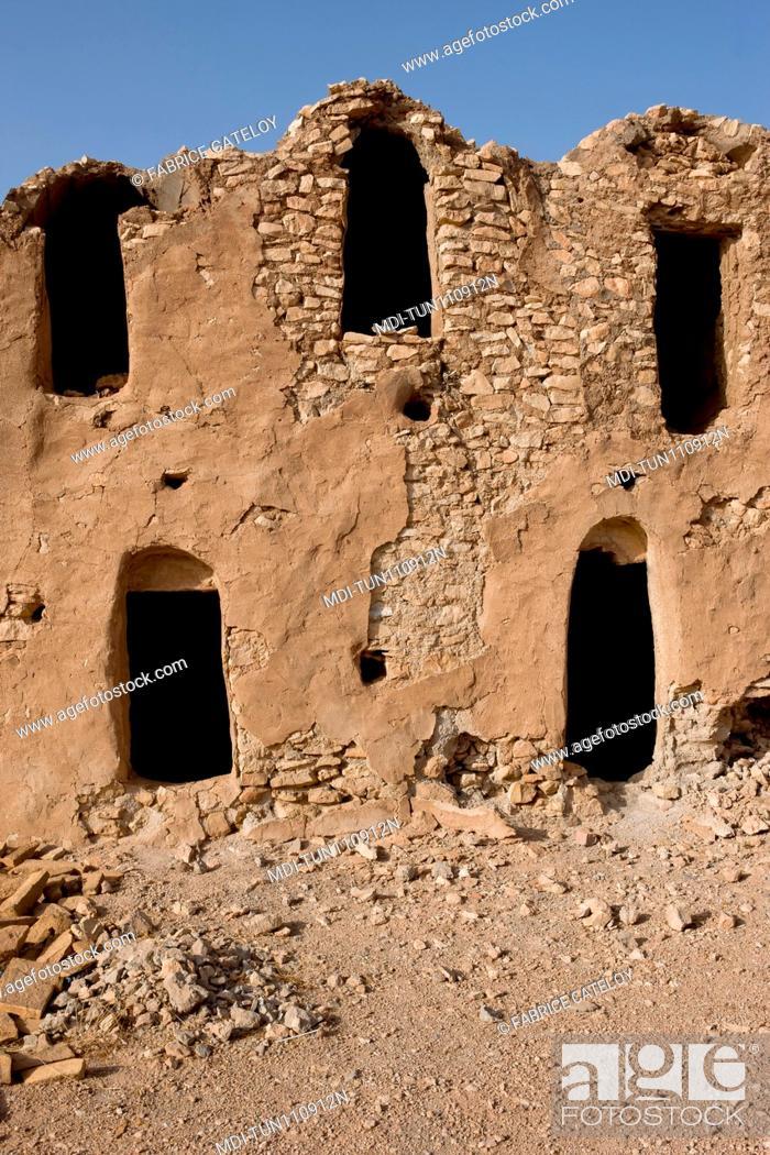 Stock Photo: Tunisia - Ksar Ouled Debbab - Inside of the ksar close to Tataouine.