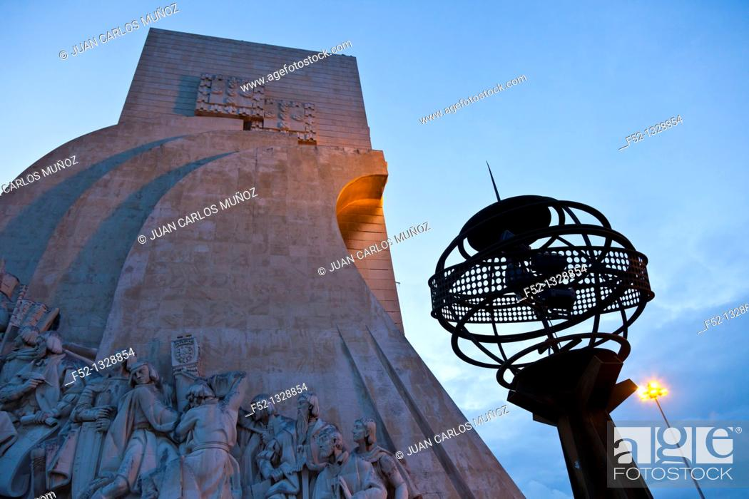 Stock Photo: Monument to the Discoveries, Belem district, Lisbon, Portugal.