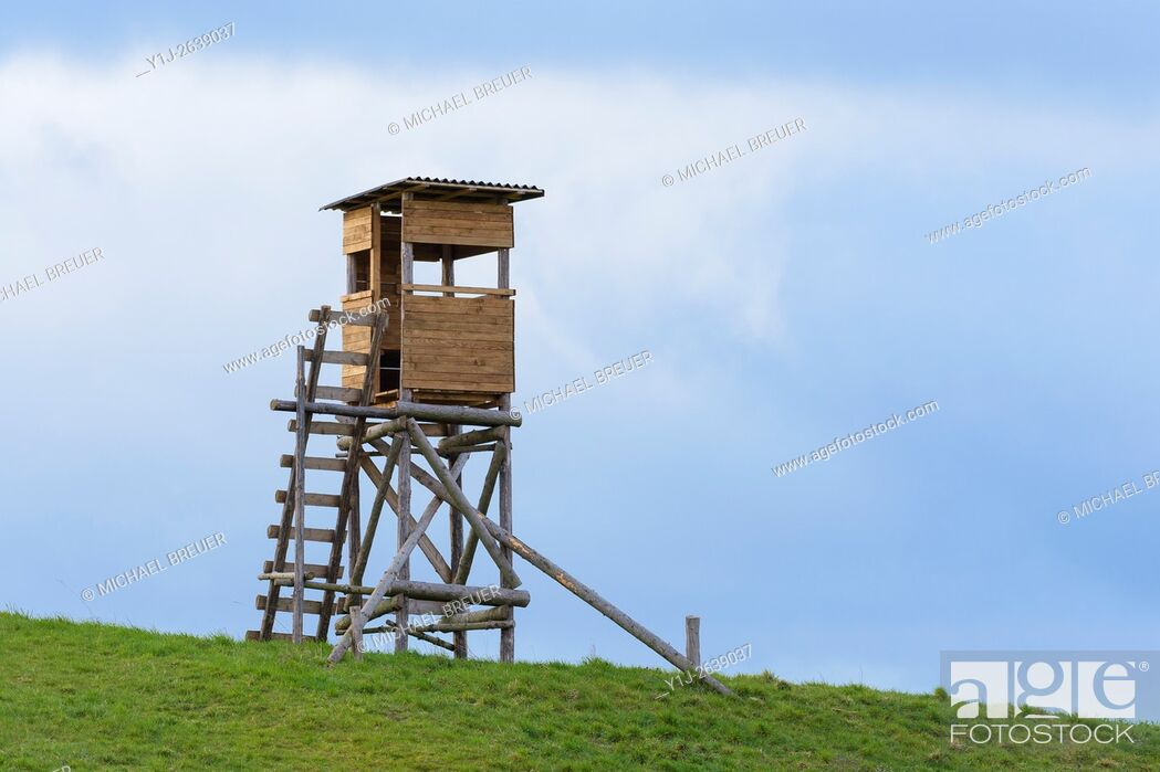 Stock Photo: Hunting Blind, Hesse, Germany, Europe.