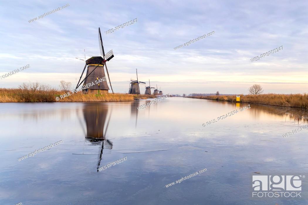 Stock Photo: Netherlands, Holland, Rotterdam, Kinderdijk.