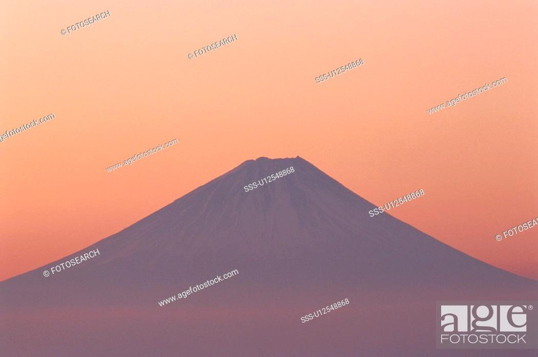 Stock Photo: Mountain In Evening.