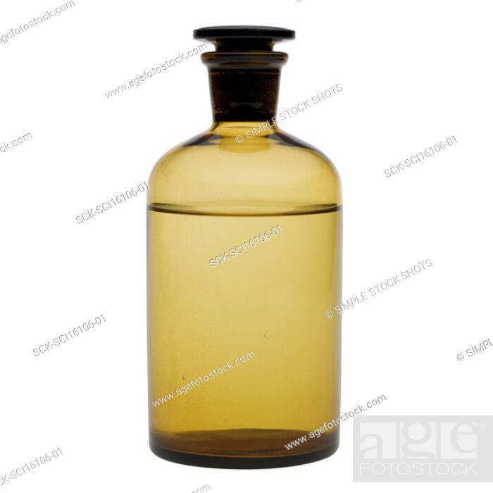 Stock Photo: chemical bottle.