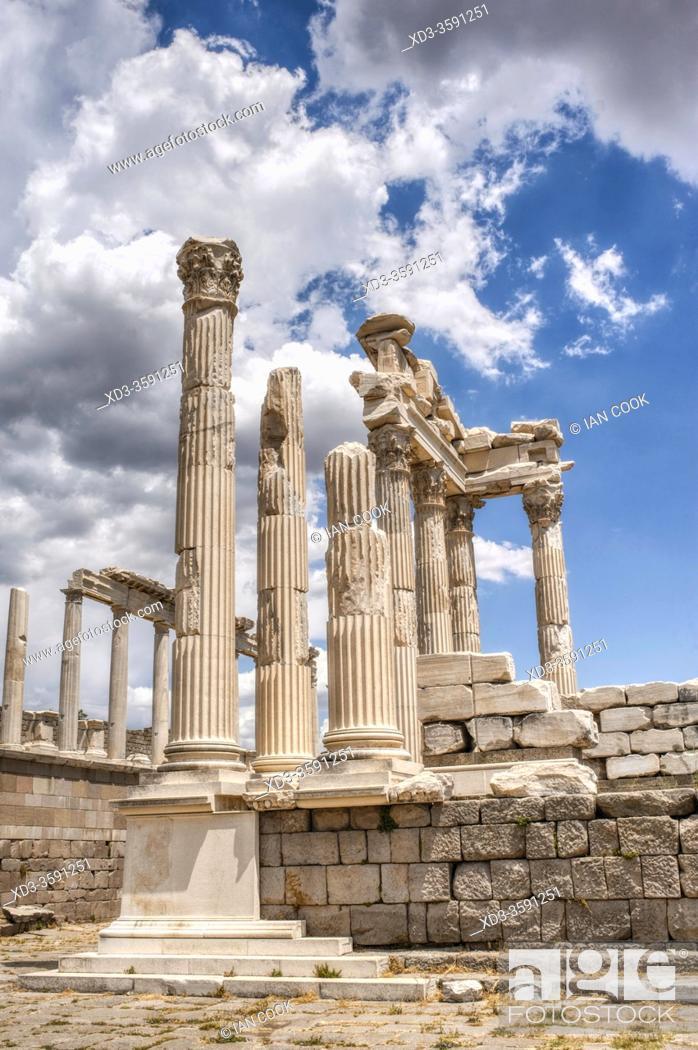 Stock Photo: ancient Greek and Roman city of Pergamon, Bergama, Turkey.