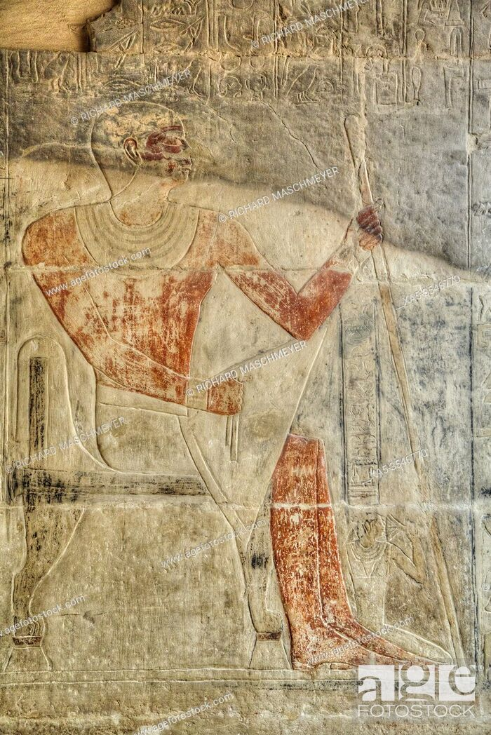 Photo de stock: Reliefs, Mastaba of Mereruka, Necropolis of Saqqara, UNESCO World Heritage Site, Saqqara, Egypt.