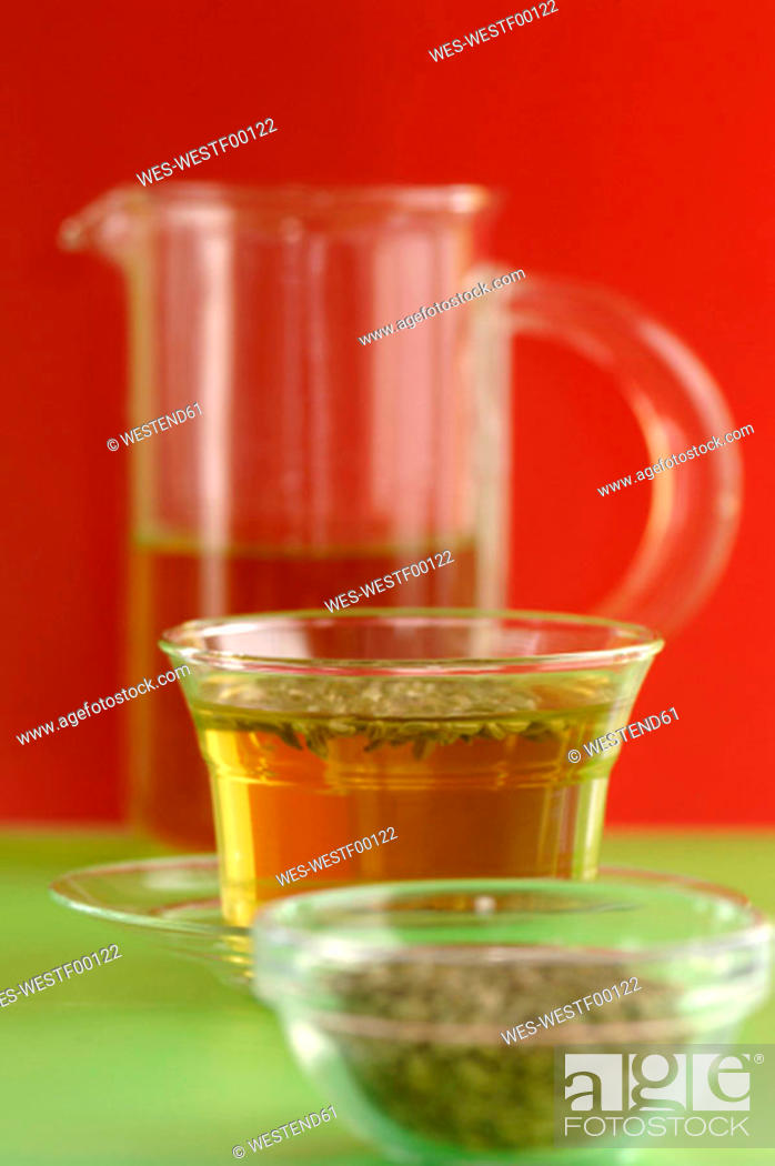 Stock Photo: Cup of tea with fennel.