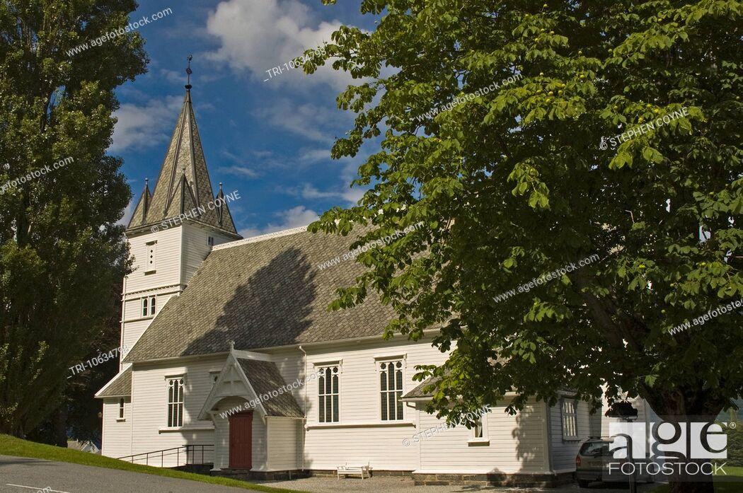 Imagen: EUROPE NORWAY Utne Lutheran Church 1895.