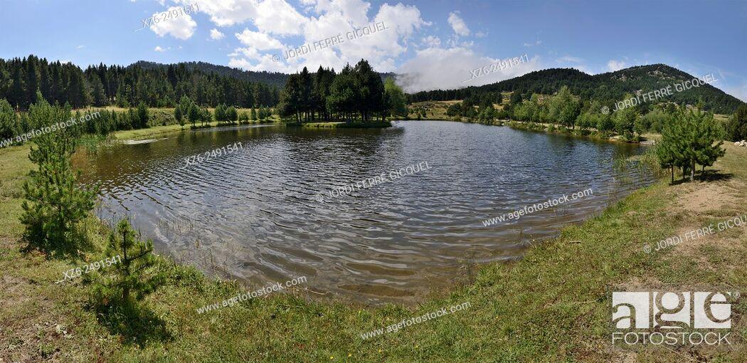 Stock Photo: Lake of Caudies, Caudiès-de-Conflent, Pyrénées-Orientales, France, Europe.