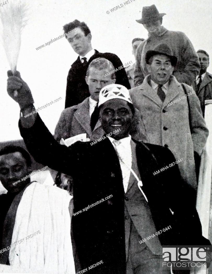 Stock Photo: Photograph of Tom Mboya (1930-1969) a Kenyan trade unionist, educationist, Pan Africanist, author, freedom fighter, Cabinet Minister and a founding father of.