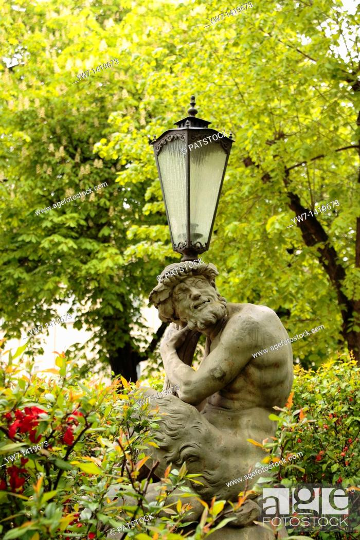 Satyr Holding Lamp In Royal Lazienki Park In Warsaw Poland