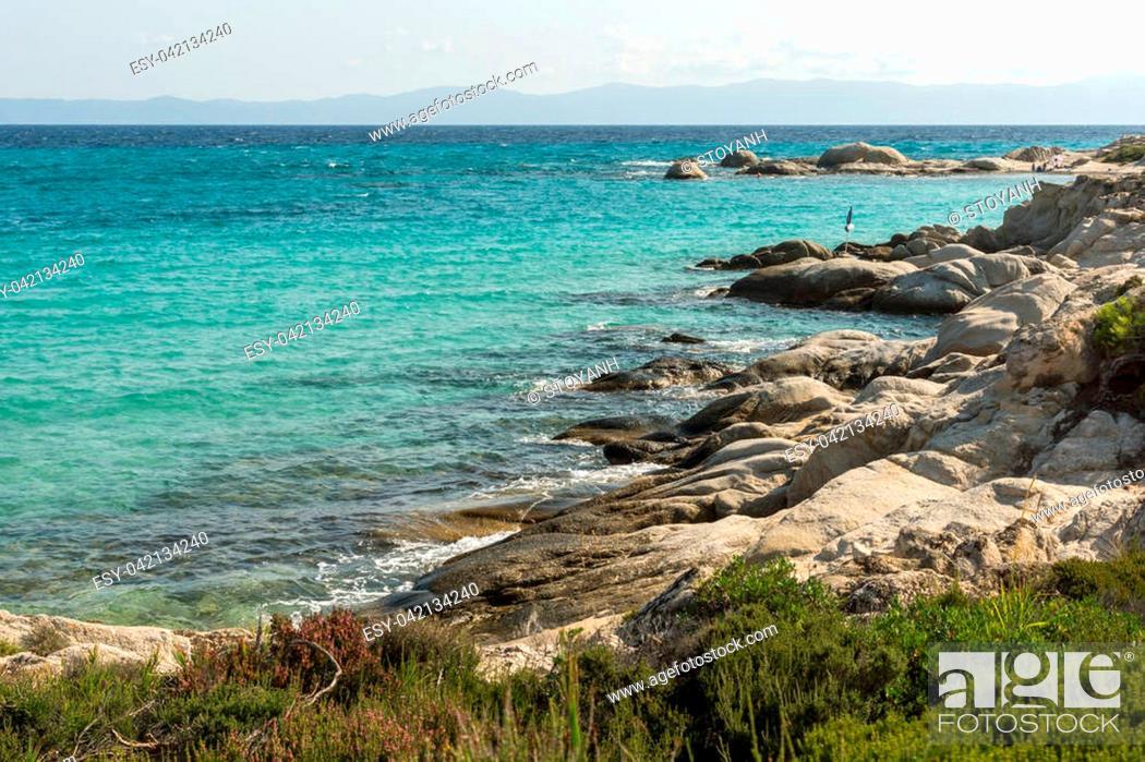 Seascape Of Orange Beach Kavourotripes