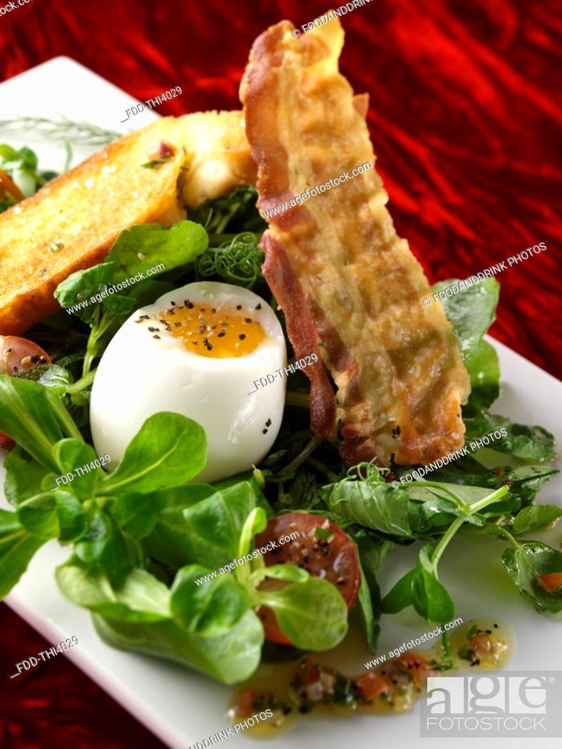 Stock Photo: Bacon & Egg.