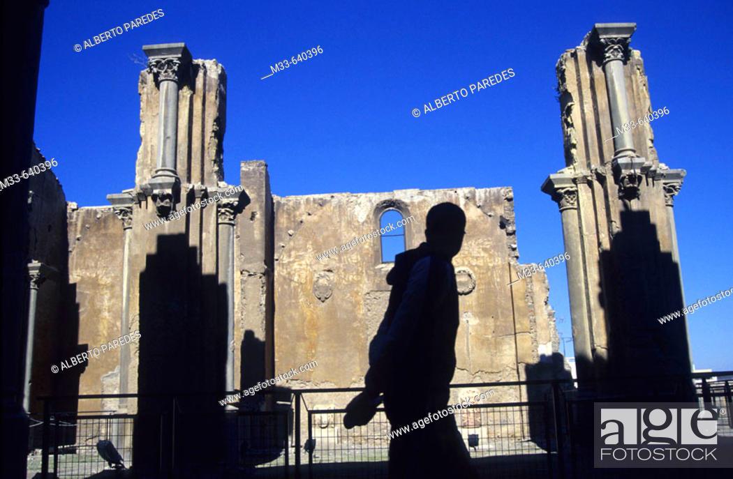 Stock Photo: Old Cathedral (Santa Maria la Vieja church). Cartagena. Murcia region. Spain.