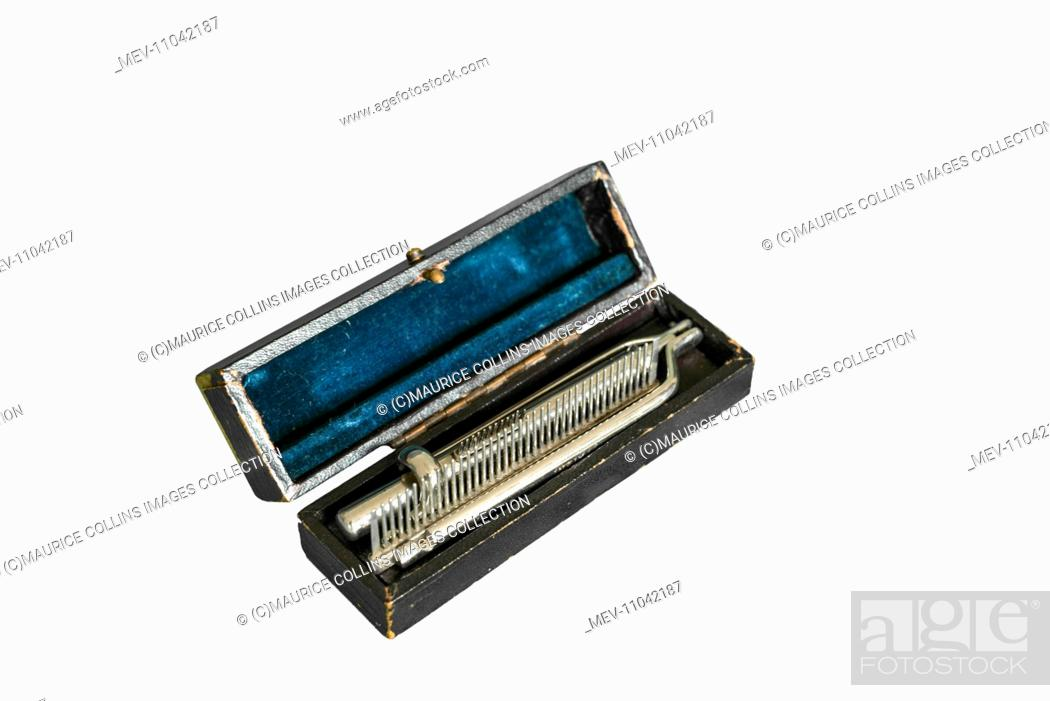 Folding Beard Comb, Stock Photo, Picture And Rights Managed Image