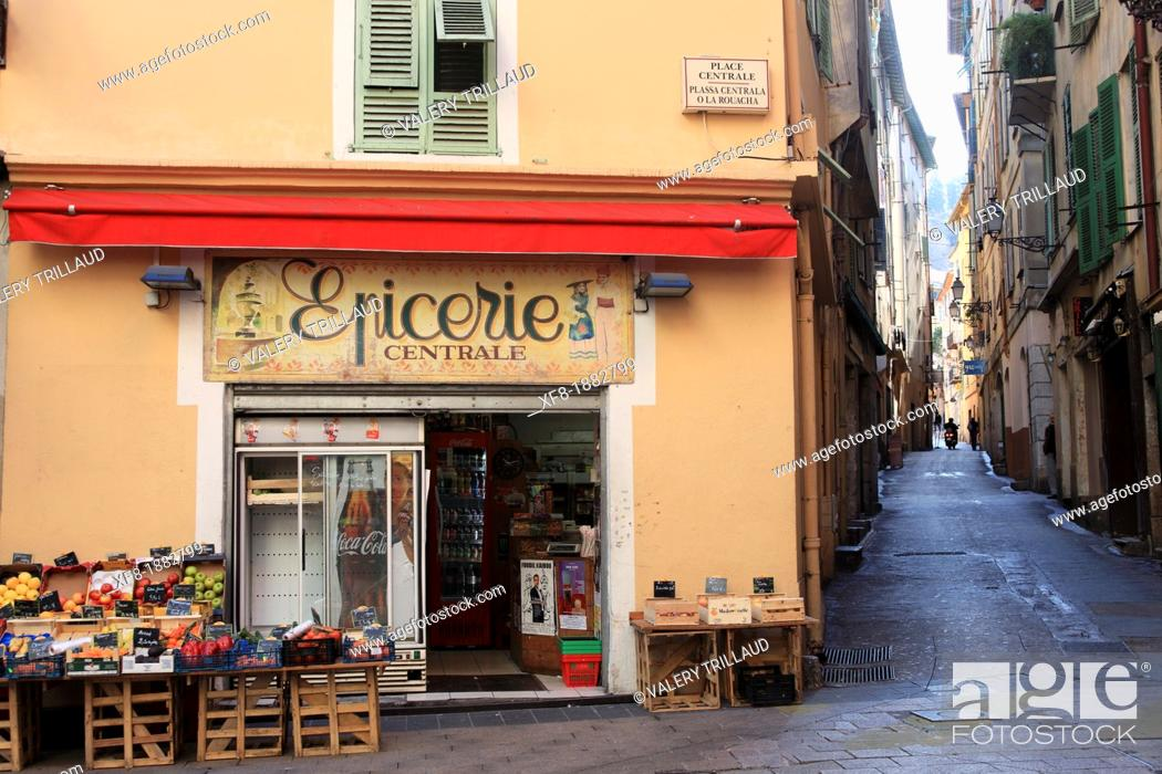 Stock Photo: Nice, old town, Alpes-Maritimes, 06, French Riviera, Cote d'Azur, PACA, France.