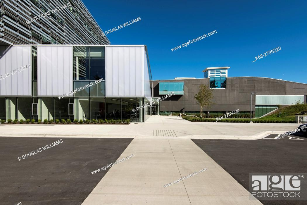 Stock Photo: the new Science and Technology building, Langara College, Vancouver, BC, Canada.