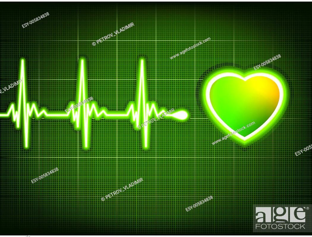 Stock Vector: Abstract heart beats cardiogram. EPS 8.