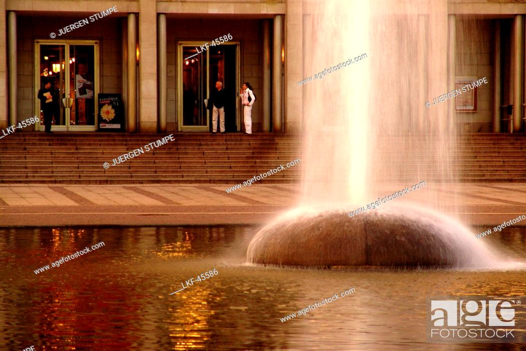 Fountain At Augustusplatz In Front Of Leipzig Opera House Leipzig Saxony Germany Europe Stock Photo Picture And Rights Managed Image Pic Lkf 45586 Agefotostock