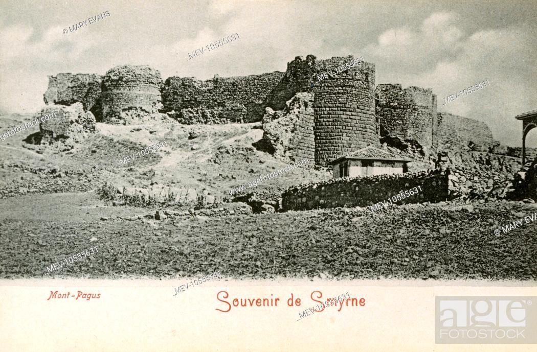 Stock Photo: Izmir, Turkey - The Summit and Castle of Kadifekale (Mount Pagus).