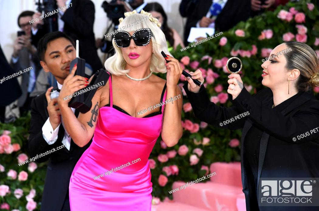 Stock Photo: Photo by: Doug Peters/starmaxinc.com.STAR MAX.©2019.ALL RIGHTS RESERVED..5/6/19.Lady Gaga at the 2019 Costume Institute Benefit Gala celebrating the opening of.