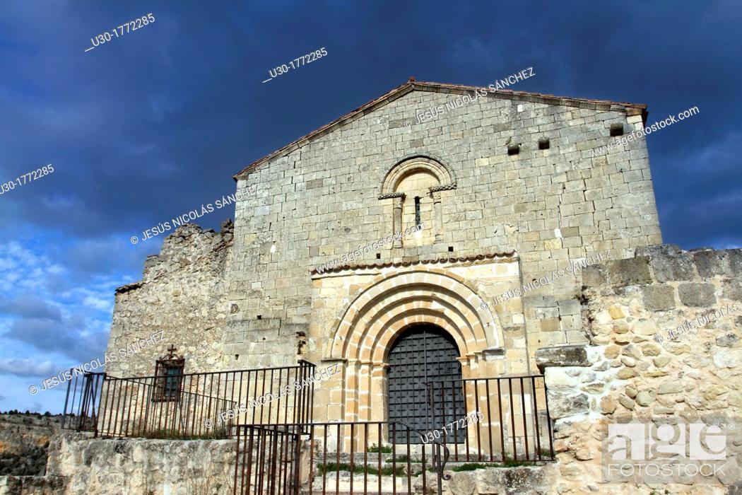 Imagen: Romanesque chapel of San Frutos in Hoces del Duraton Natural Park  Segovia province  Castilla y Leon  Spain.