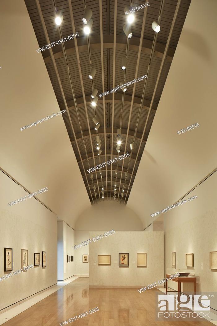 Photo de stock: Portrait of room with ceiling detail. Klimt Schiele Exhibition at the Royal Academy, London, United Kingdom. Architect: N/a, 2018.