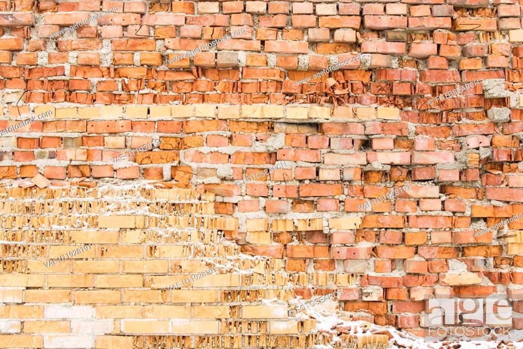 Stock Photo: Brick, Brick Wall, Day, Full Frame.