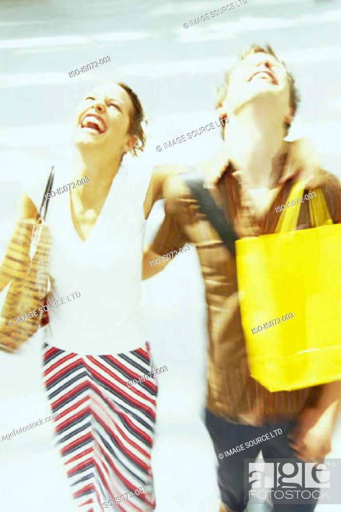 Stock Photo: Couple shopping.