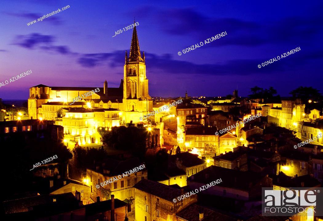 Stock Photo: St  Emilion Dordogne Valley. Bordeaux, Aquitaine, France.