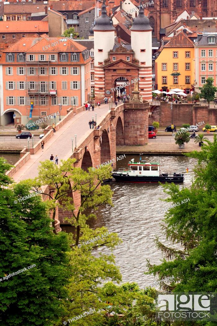 Stock Photo: Heidelberg's Old Bridge.