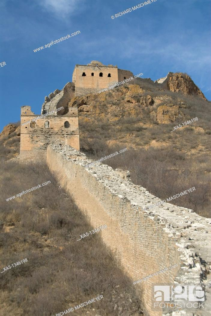 Stock Photo: The Great Wall, Jinshanling, China.