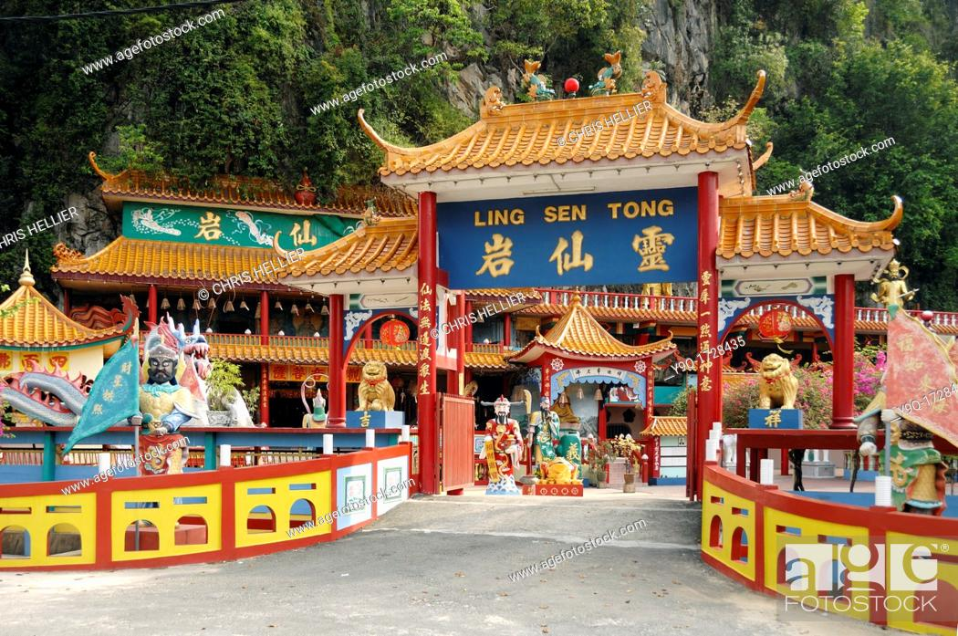 Imagen: Chinese Cave Temple Ling Sen Tong Ipoh Malaysia.