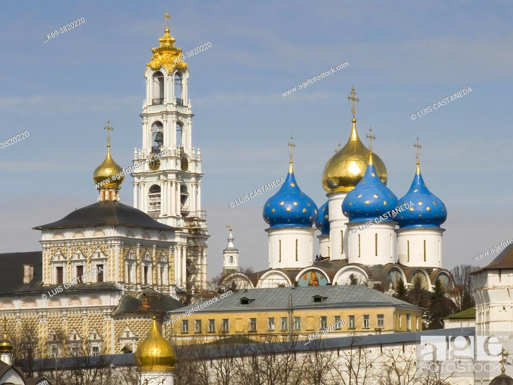 Stock Photo: The Trinity Monsatery of St. Sergius. Lavra (Moscow) Russian Federation.
