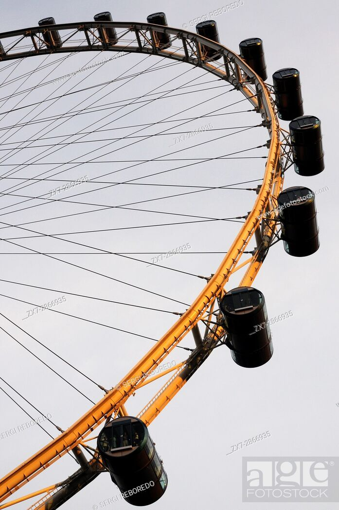 Imagen: Singapore flyer, views from iniside largest Ferries wheel in the world.
