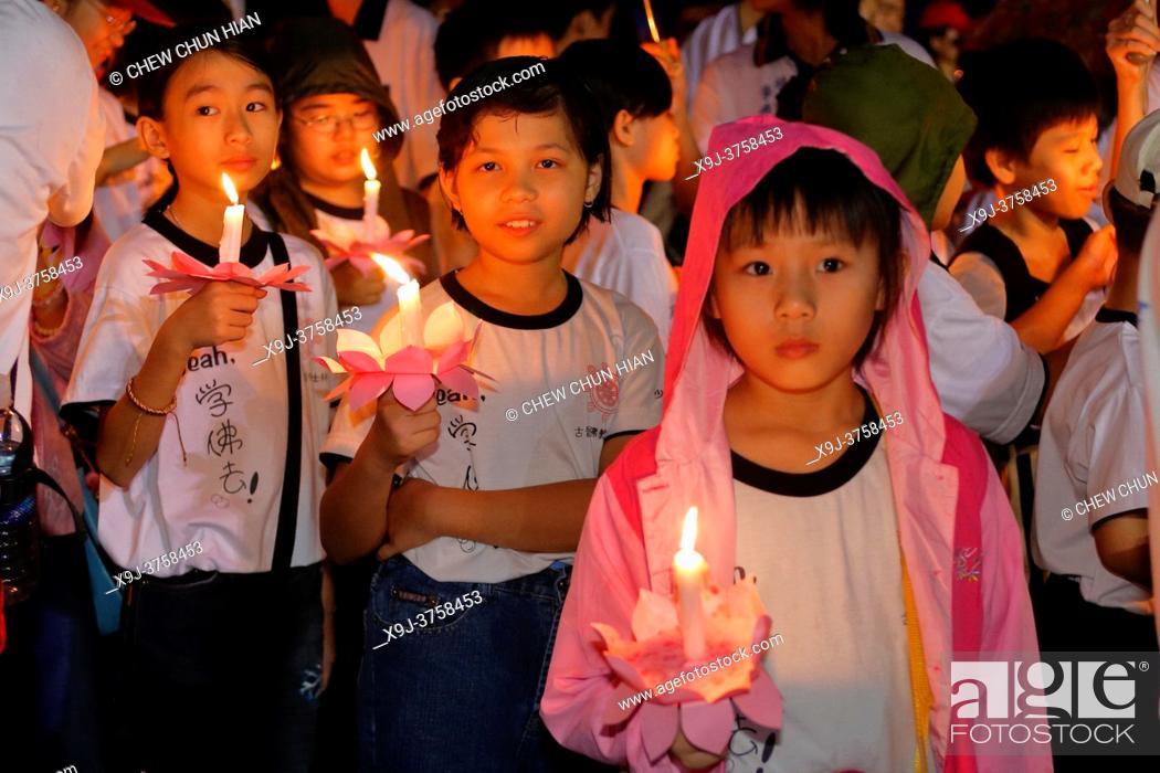 Stock Photo: Wesak Day Celebration in Kuching, Sarawak, Malaysia.