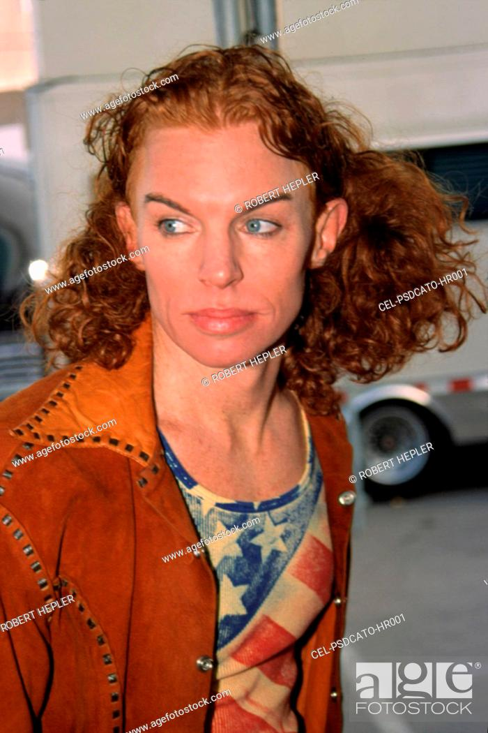 Carrot Top At The American Music Awards La Ca 1 9 02 By Robert