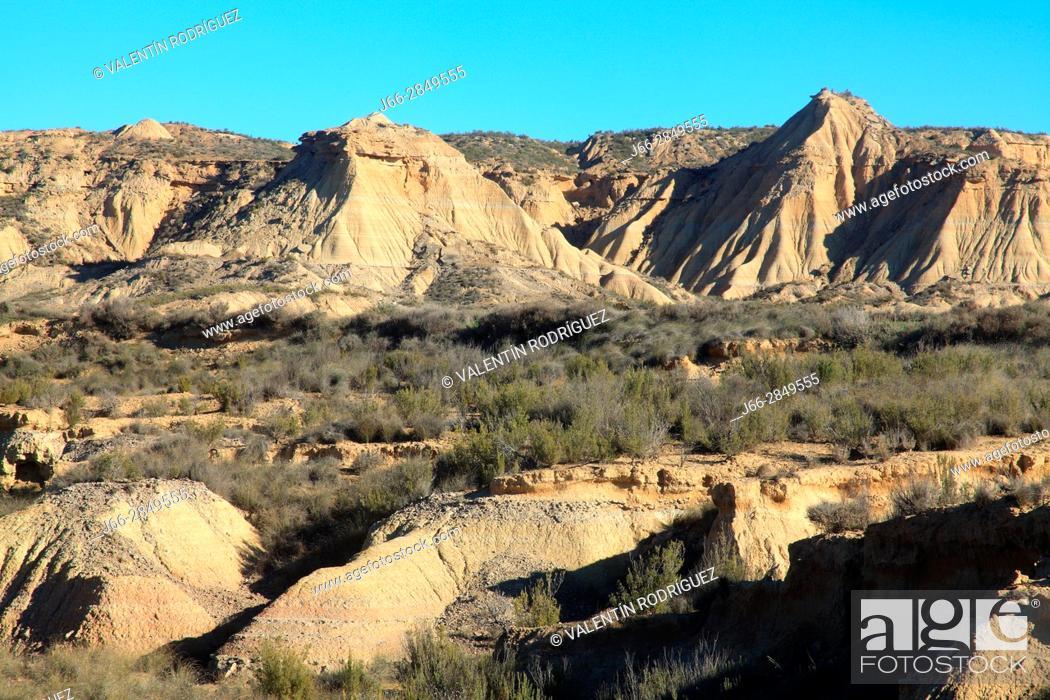 Imagen: Landscape in the area called La Blanca Baja. Natural park Bárdenas Reales. Navarra.