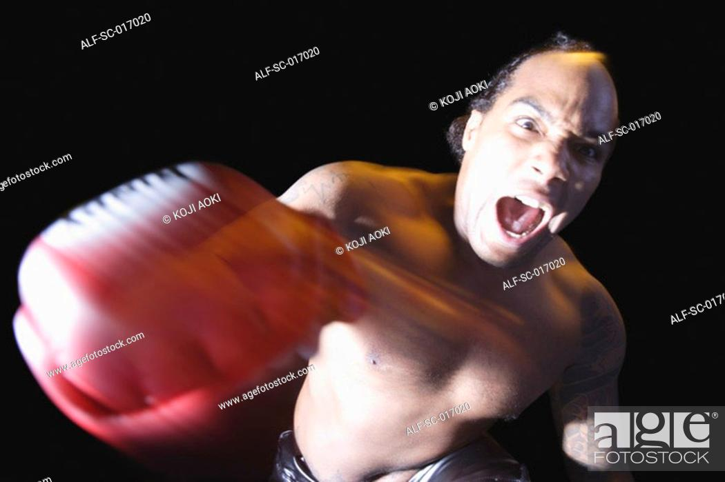 Stock Photo: Mixed Martial Arts Fighter.