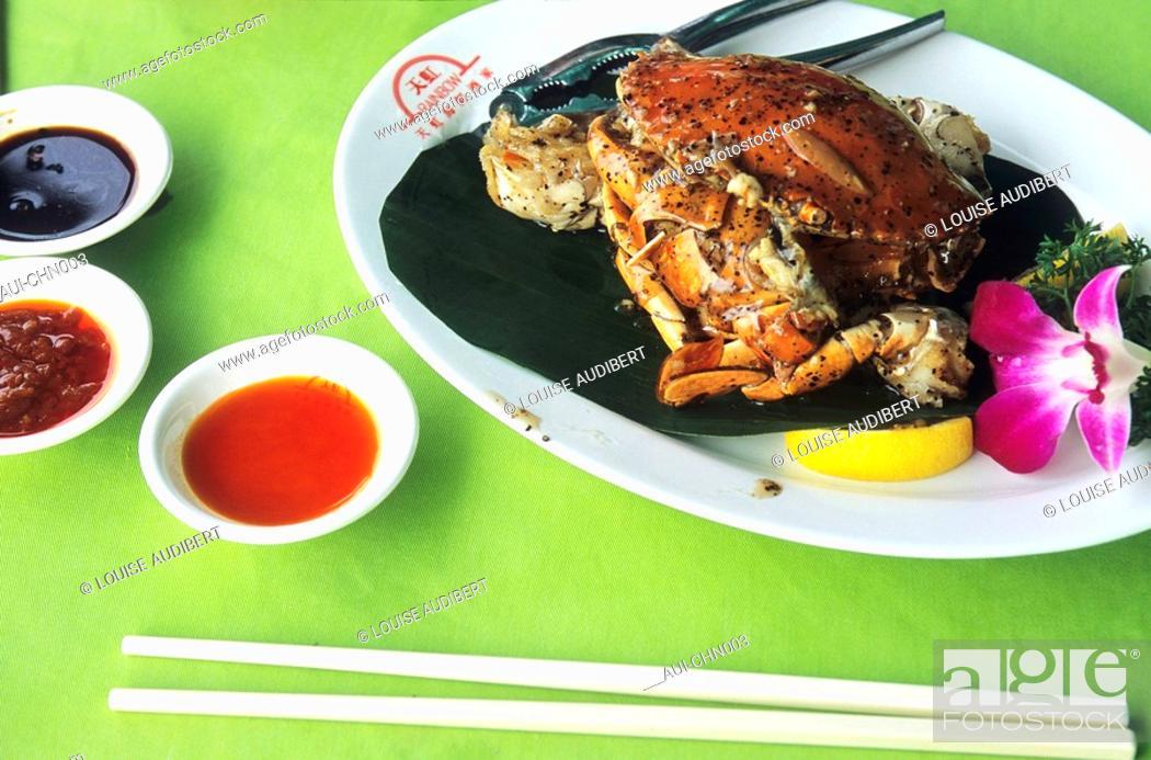 Stock Photo: Hong-Kong - crabe farci.