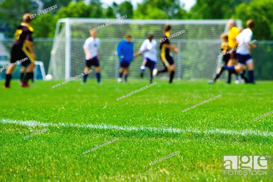 Stock Photo: Soccer game capture abstract.