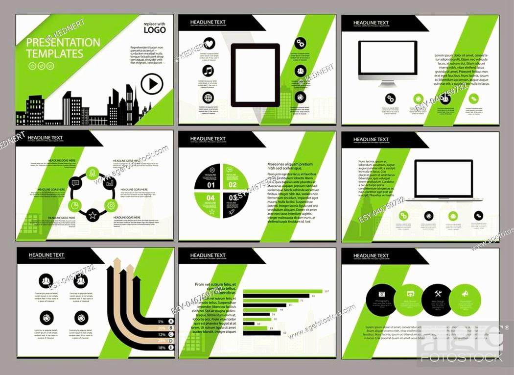 Stock Vector: Business Template design set Presentation and brochure Annual report, flyer page with infographic element.