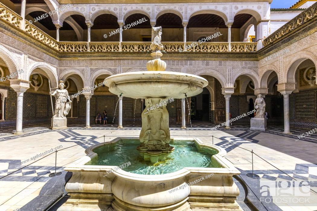 Stock Photo: La Casa de Pilatos or Pilate's House built in the 16th century in Seville Spain.