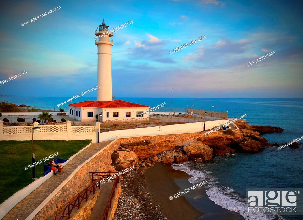 Photo de stock: The lighthouse in Avenida del Faro, Torrox Costa, Costa Del Sol,.
