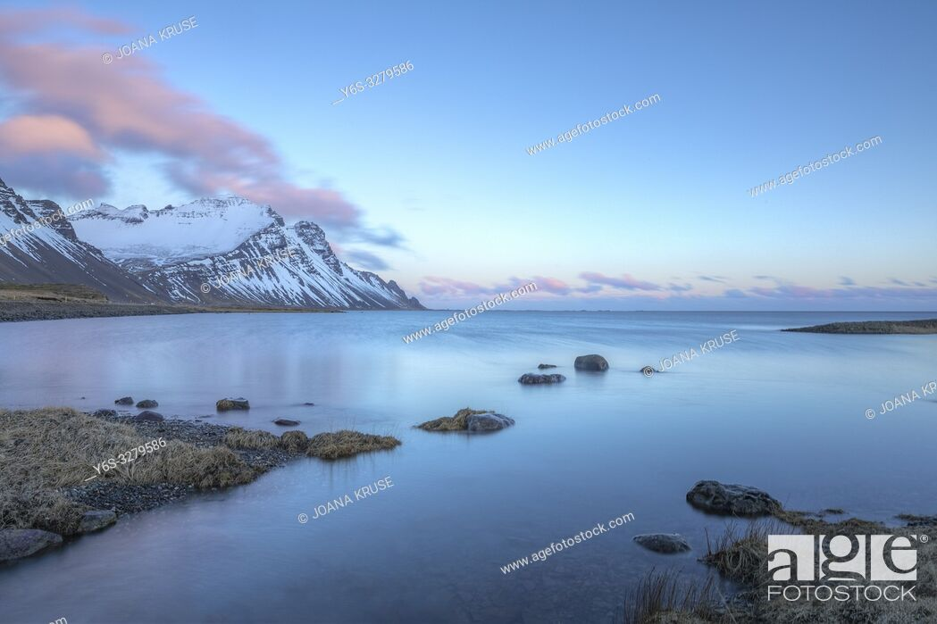 Stock Photo: Stokksnes, Hornafjordur, Hofn, South Iceland, Iceland, Europe.