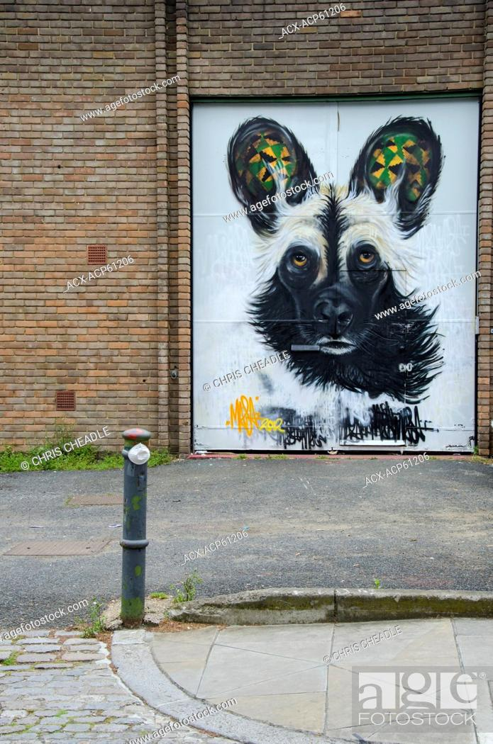 Imagen: Street Art, near Brick Lane, Shoreditch, East London, England.
