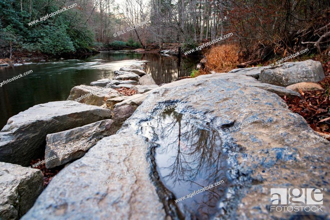 Stock Photo: Davidson River - Sycamore Flats, Pisgah National Forest - near Brevard, North Carolina, USA.