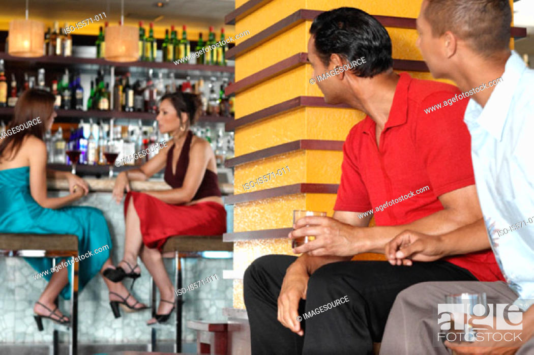 Stock Photo: People sitting in bar.