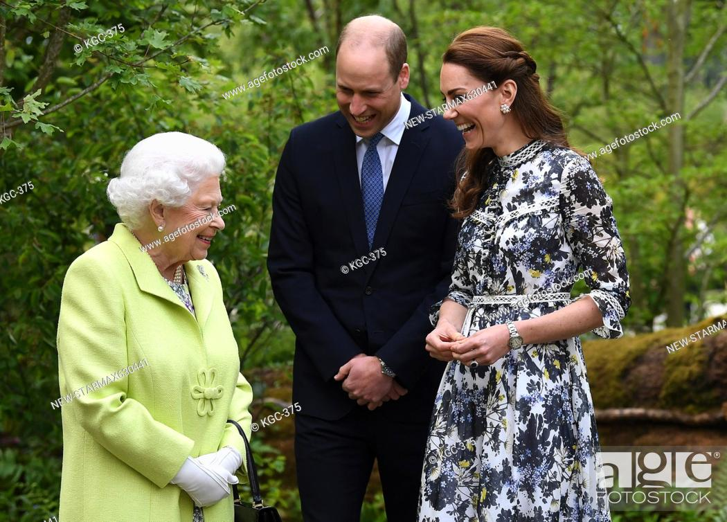 Imagen: Photo by: KGC-375/starmaxinc.com.STAR MAX.©2019.ALL RIGHTS RESERVED..5/20/19.Queen Elizabeth II, Prince William, The Duke of Cambridge and Catherine.
