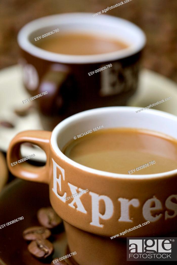 Stock Photo: coffee still life.