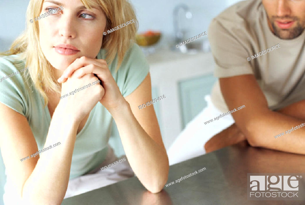 Stock Photo: Couple in the kitchen.