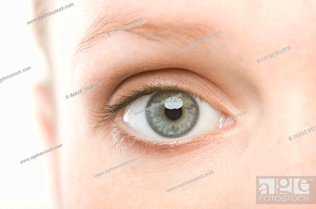Stock Photo: A womans eye.